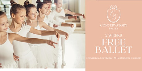 TWO WEEKS FREE Virtual Ballet Class - Elementary FE (for ages 6-9) tickets