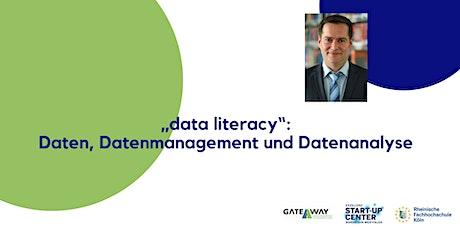 """""""data literacy"""": Daten, Datenmanagement und Datenanalyse Tickets"""