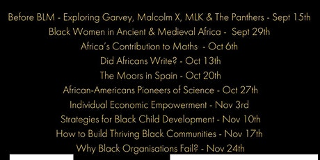 Black Wisdom in Changing Times (Black History & Success )Masterclasses
