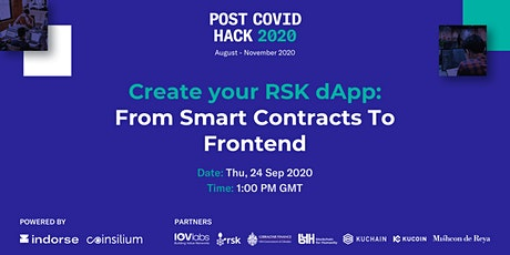 Create your RSK dApp: From Smart Contracts To Frontend tickets
