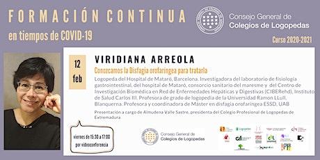 Videoconferencia a cargo de Viridiana Arreola boletos
