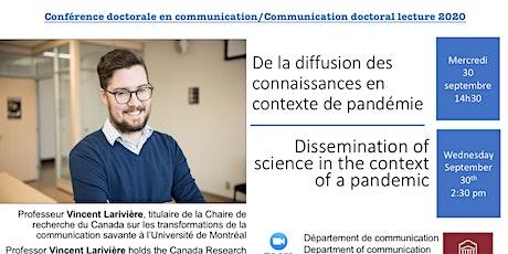 Conférence doctorale en communication/Doctoral lecture 2020 tickets