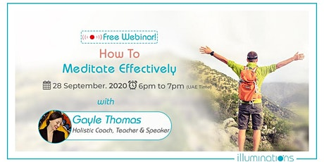 Free Webinar! How to Meditate Effectively tickets