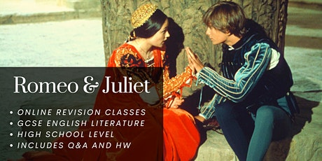 Romeo and Juliet English Online Group Tuition, High School Revision Class tickets