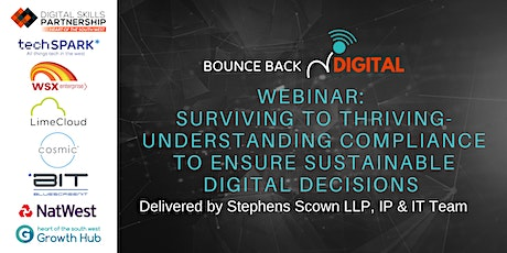 Bounce Back Digital Series:Thriving with sustainable digital decisions tickets