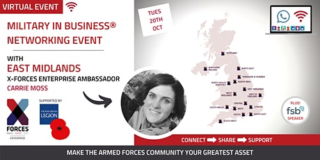 Military in Business Virtual Networking Event- East Midlands tickets