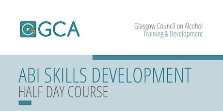 Alcohol Brief Intervention Skills Development Training (Online half day) tickets