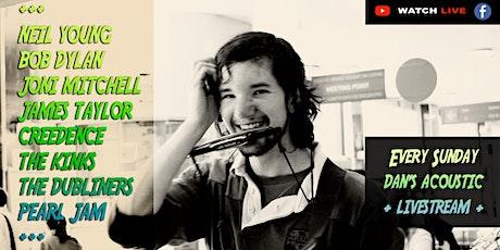 Dan's Acoustic Livestream - Folk Blues Country Rock Irish Music tickets