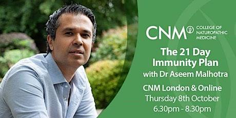 The 21-Day Immunity Plan by Dr Aseem Malhotra tickets
