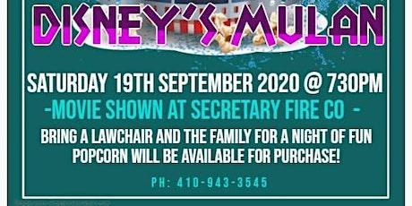 Secretary Volunteer Fire Company Presents Movie Night With Disney's Mulan tickets