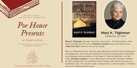 """Poe House Presents"" Author Series & Virtual Tour (pay-what-you-can) tickets"