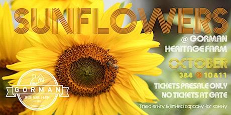 Sunflowers @ Gorman Heritage Farm tickets