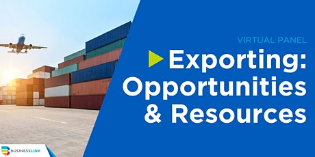 Exporting: Opportunities and Resources Virtual Panel tickets