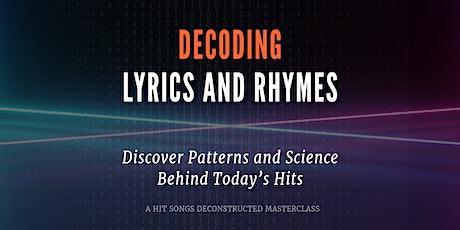 Decoding Lyrics & Rhymes tickets
