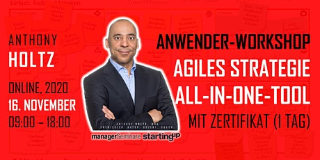 Agiles Strategie into Action All-in-One Tool:  PRACTITIONER (Online) Tickets