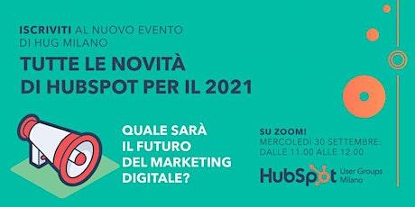 [WEBINAR] Qual è il futuro del Marketing Digitale? Novità HubSpot 2021 biglietti