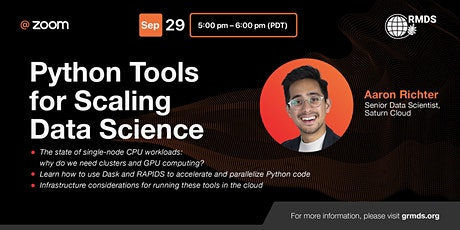 Python Tools for Scaling Data Science tickets