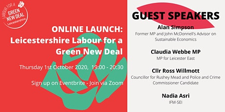 Leicestershire Labour for a Green New Deal - Online Launch tickets