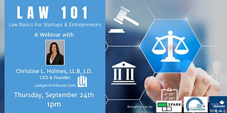 Law 101 - Law Basics for Startups and Entrepreneurs tickets