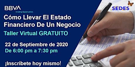 Estado Financiero De Un Negocio  - Taller Virtual 9/22/2020 6:00 PM boletos