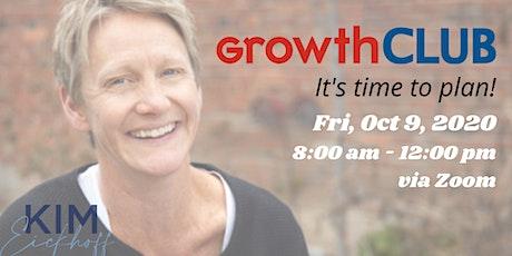 GrowthCLUB, a 90-day planning workshop tickets