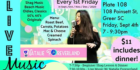 Dinner & Live Music with Natalie Foreverland tickets