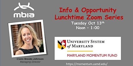 MBIA  -  Info and Opportunity   Lunchtime  Zoom Series tickets
