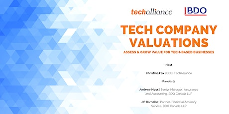 Tech Company Valuations: Assess & Grow Value For Tech-Based Businesses |BDO tickets