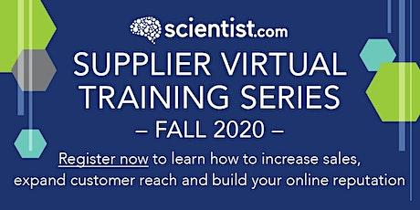 New Supplier Orientation: The Value ofScientist.com tickets