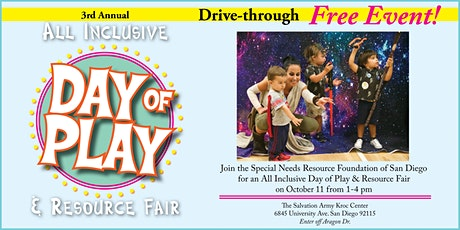 All Inclusive Day of Play & Resource Fair FREE Drive-Thru Event tickets
