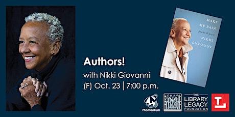 Authors! with Nikki Giovanni tickets