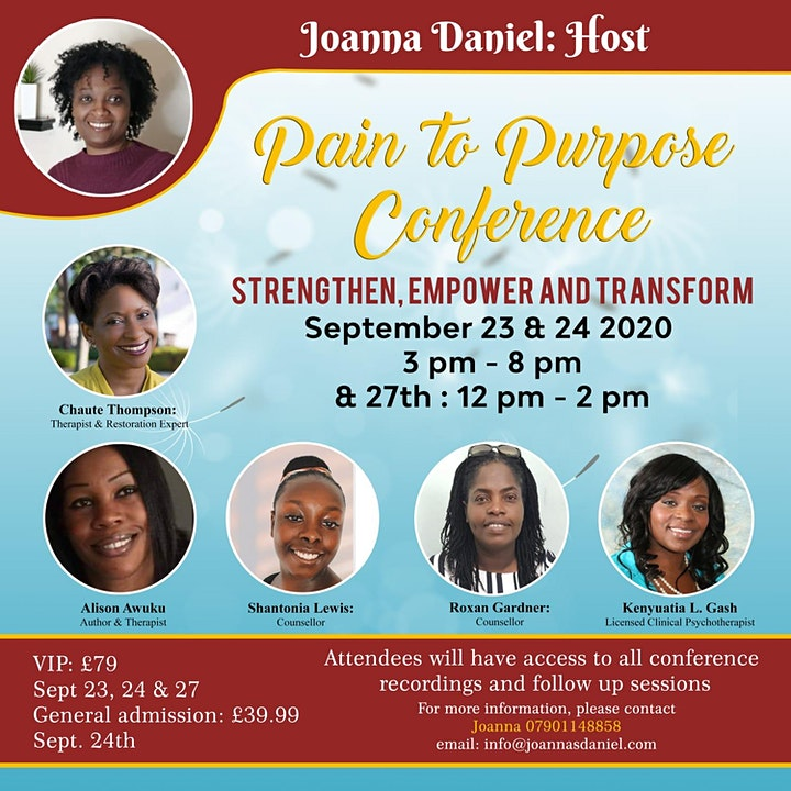 Pain to Purpose Conference image