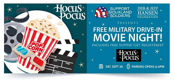 FREE Military Drive-In Movie Night: Hocus Pocus! image