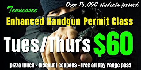 Tues/Thurs Enhanced Handgun Carry Permit Class tickets