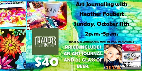 Art Journaling Class at Traders Brewing Company tickets