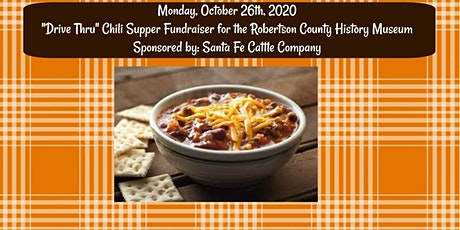 """""""Drive Thru"""" Chili Supper Fundraiser for the History Museum tickets"""