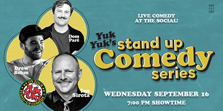 Yuk Yuk's Comedy Series at Social tickets