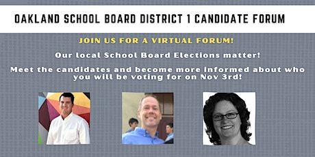 Oakland School Board Elections Forum: Meet District 1 Candidates! tickets
