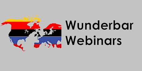 Wunderbar Webinar Series tickets
