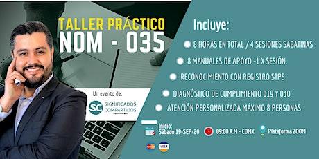Taller Práctico NOM - 035 boletos