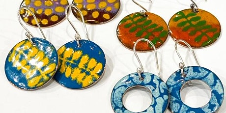 Enamelling jewellery and Metal Smithing.   Make your own earrings/jewellery tickets