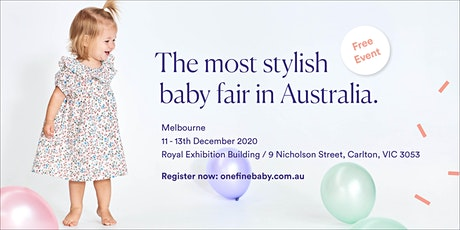 Australia's Most Stylish FREE Baby Fair MELBOURNE 2020 tickets