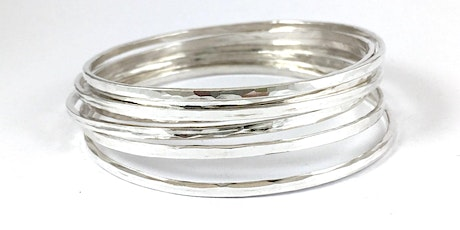 Intro to  Metal- Smithing.  Make your own 925 sterling silver bangles tickets