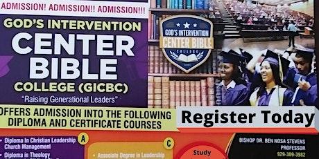 GIC Bible College - Christian Leadership tickets