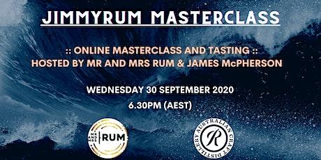 JimmyRum Masterclass tickets