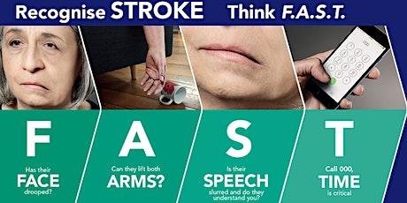Stroke Foundation StrokeSafe talk tickets
