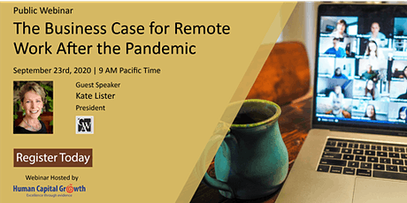 HCG Public Webinar: The Business Case for Remote Work After the Pandemic tickets