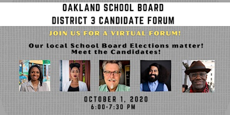 Oakland School Board Elections Forum: Meet District 3 Candidates! tickets