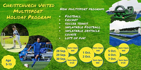 Christchurch United Multisport Holiday Program tickets