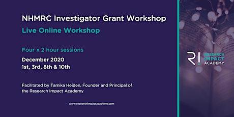 NHMRC Investigator Grant application workshop tickets